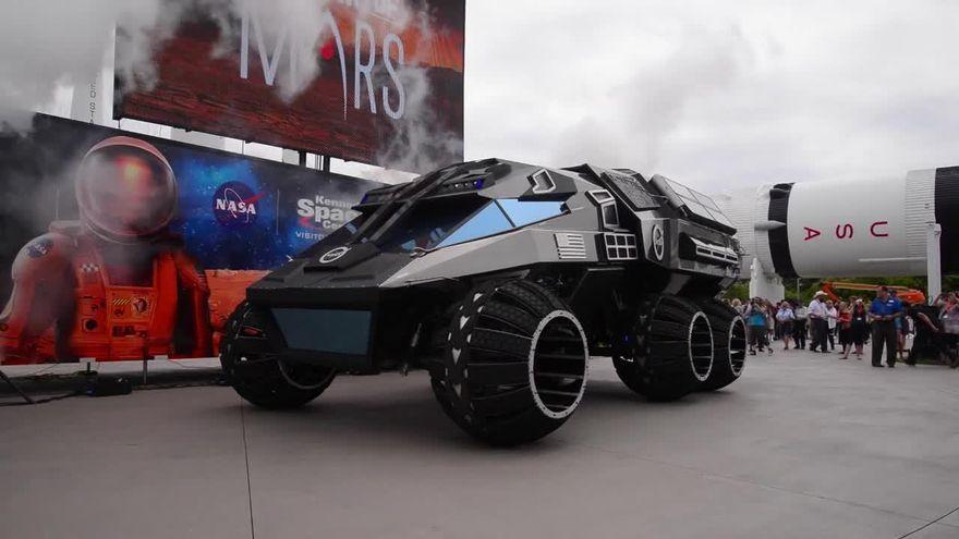 В США была представлена концептуальная модель вездехода для программы освоения Марса
